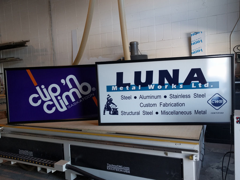 Backlit EMC Signs